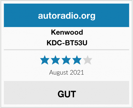 Kenwood KDC-BT53U Test