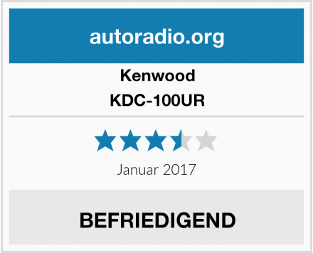 Kenwood KDC-100UR Test