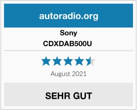 Sony CDXDAB500U  Test