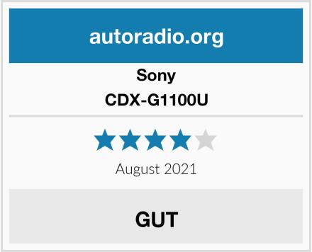 Sony CDX-G1100U Test