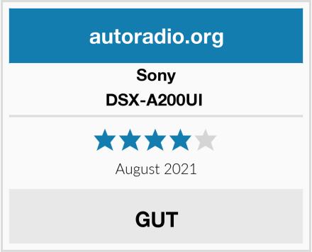 Sony DSX-A200UI  Test
