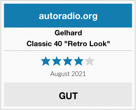 """Gelhard Classic 40 """"Retro Look"""" Test"""