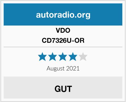 VDO CD7326U-OR Test