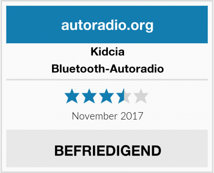 Kidcia Bluetooth-Autoradio Test