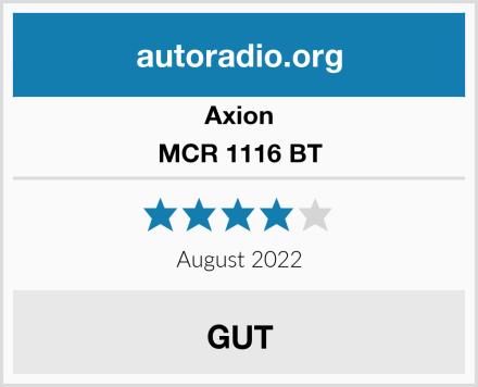 Axion MCR 1116 BT Test