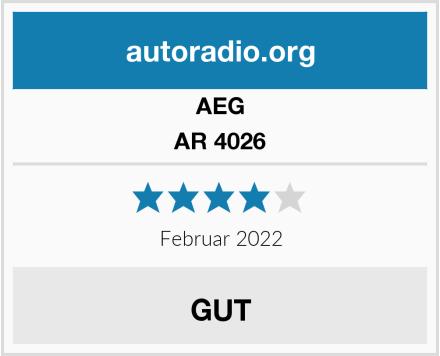 AEG AR 4026 Test
