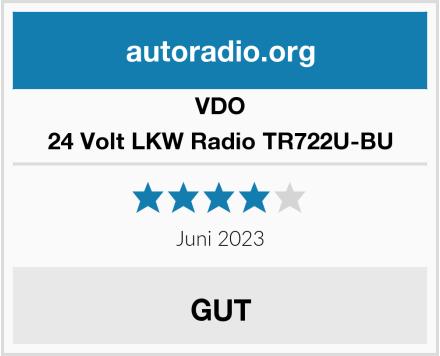 VDO 24 Volt LKW Radio TR722U-BU Test