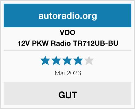 VDO 12V PKW Radio TR712UB-BU Test