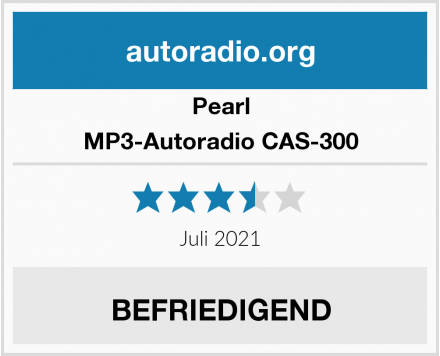 Pearl MP3-Autoradio CAS-300 Test