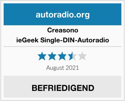 Creasono ieGeek Single-DIN-Autoradio Test