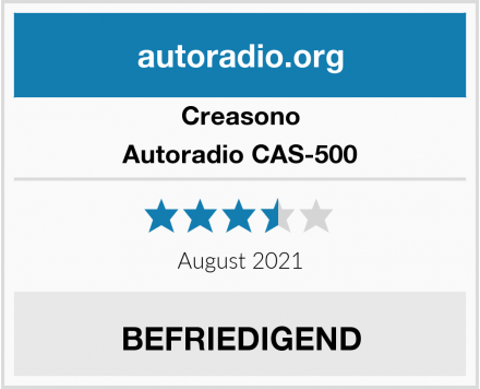 Creasono Autoradio CAS-500 Test