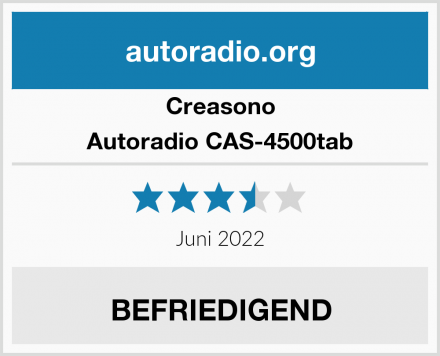 Creasono Autoradio CAS-4500tab Test