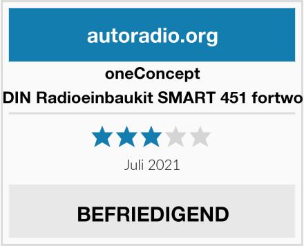 oneConcept DIN Radioeinbaukit SMART 451 fortwo  Test
