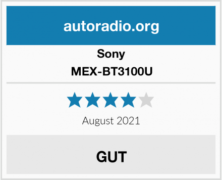 Sony MEX-BT3100U Test
