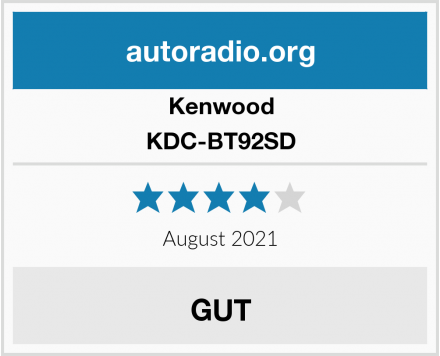 Kenwood KDC-BT92SD Test