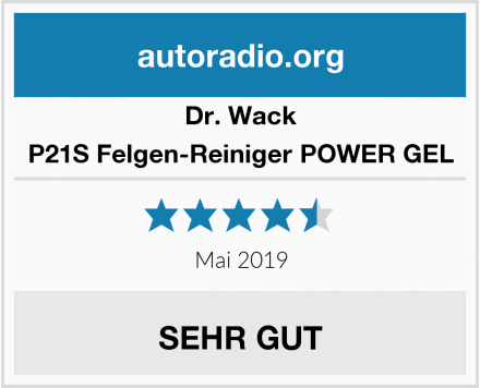 Dr. Wack P21S Felgen-Reiniger POWER GEL Test