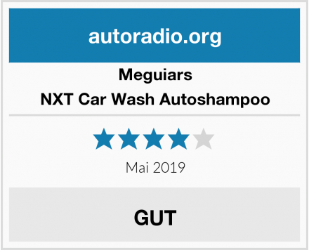 Meguiars NXT Car Wash Autoshampoo Test