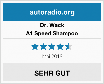 Dr. Wack A1 Speed Shampoo Test