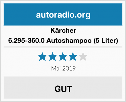 Kärcher 6.295-360.0 Autoshampoo (5 Liter) Test