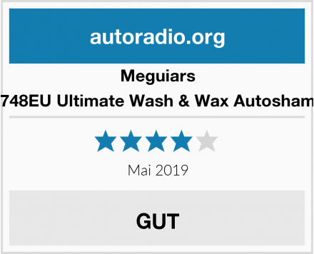 Meguiars G17748EU Ultimate Wash & Wax Autoshampoo Test
