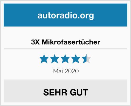 3X Mikrofasertücher Test