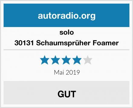 solo 30131 Schaumsprüher Foamer Test