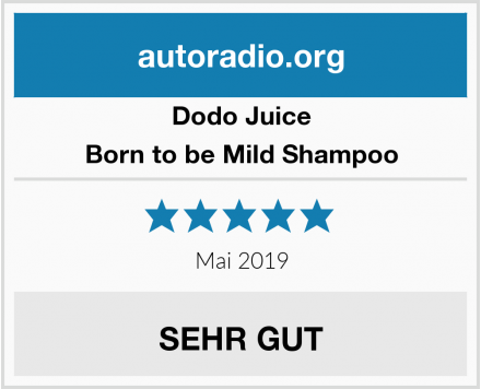 Dodo Juice Born to be Mild Shampoo Test