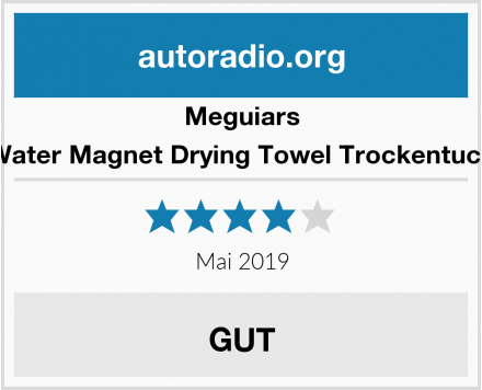 Meguiars Water Magnet Drying Towel Trockentuch Test