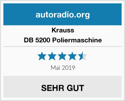 Krauss DB 5200 Poliermaschine Test