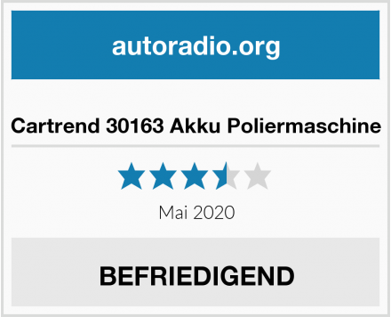 Cartrend 30163 Akku Poliermaschine Test