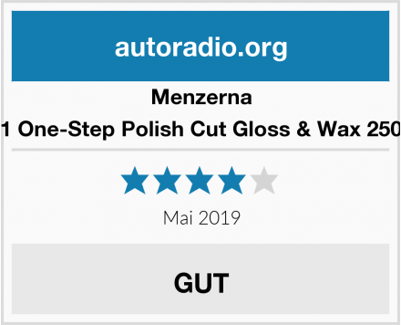 Menzerna 3in1 One-Step Polish Cut Gloss & Wax 250 ml Test