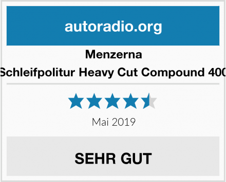 Menzerna Schleifpolitur Heavy Cut Compound 400 Test