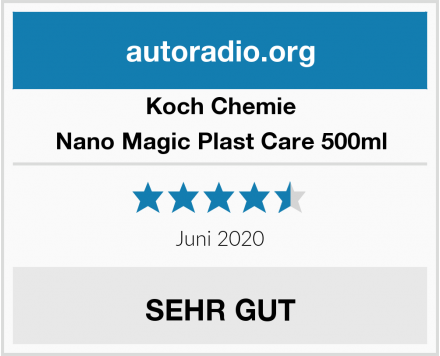 Koch Chemie Nano Magic Plast Care 500ml Test