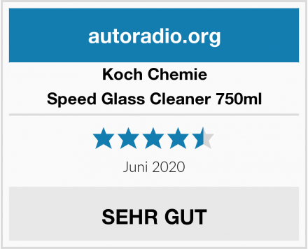 Koch Chemie Speed Glass Cleaner 750ml Test