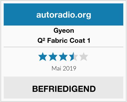 Gyeon Q² Fabric Coat 1 Test