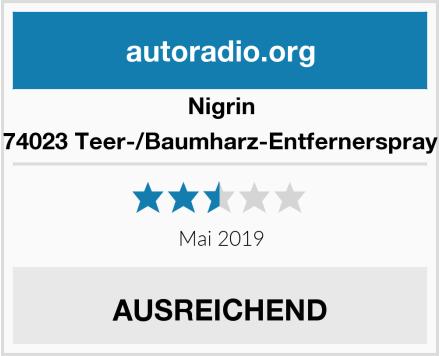 Nigrin 74023 Teer-/Baumharz-Entfernerspray Test