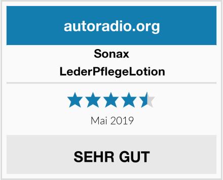 Sonax LederPflegeLotion Test