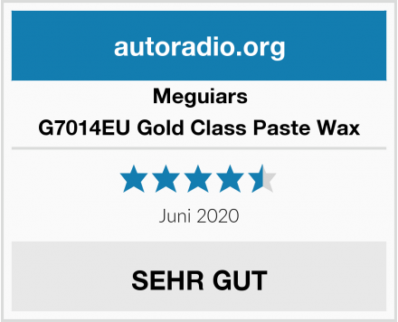 Meguiars G7014EU Gold Class Paste Wax Test