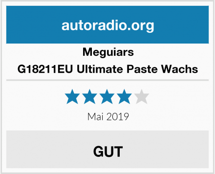 Meguiars G18211EU Ultimate Paste Wachs Test