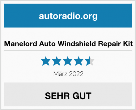 Manelord Auto Windshield Repair Kit Test