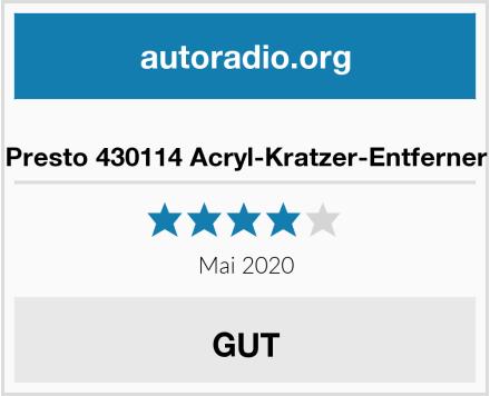 Presto 430114 Acryl-Kratzer-Entferner Test