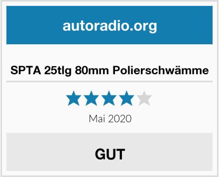 SPTA 25tlg 80mm Polierschwämme Test