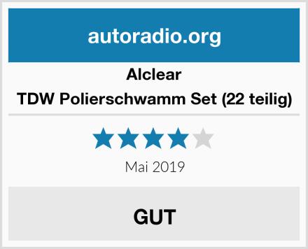 Alclear TDW Polierschwamm Set (22 teilig) Test