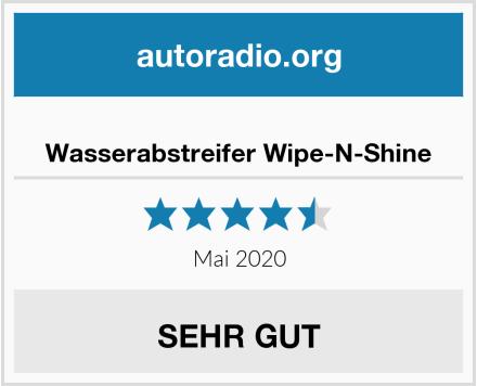 Wasserabstreifer Wipe-N-Shine Test