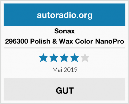 Sonax 296300 Polish & Wax Color NanoPro Test