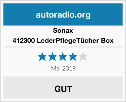 Sonax 412300 LederPflegeTücher Box Test