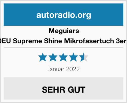 Meguiars X2020EU Supreme Shine Mikrofasertuch 3er Pack Test