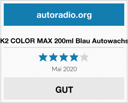 K2 COLOR MAX 200ml Blau Autowachs Test