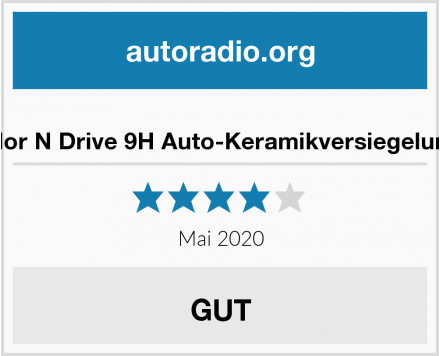 Color N Drive 9H Auto-Keramikversiegelungs Test