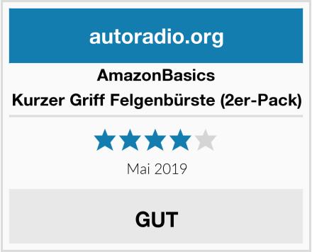 AmazonBasics Kurzer Griff Felgenbürste (2er-Pack) Test